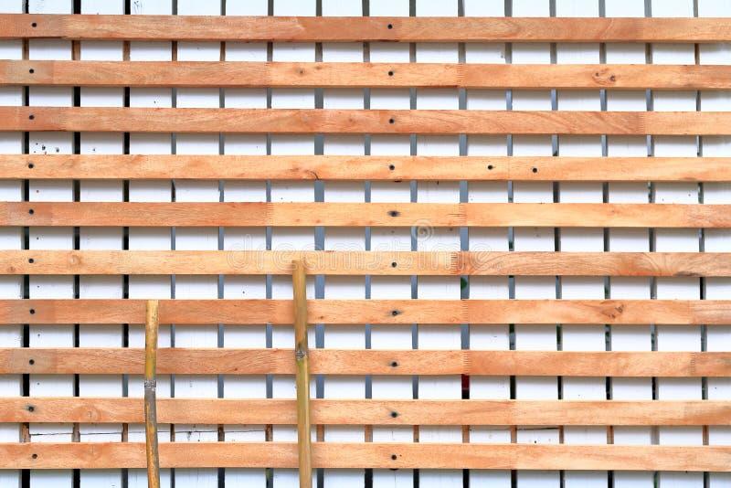 Piquete branco de madeira foto de stock