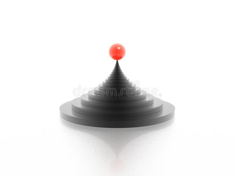 Pirámide stock de ilustración