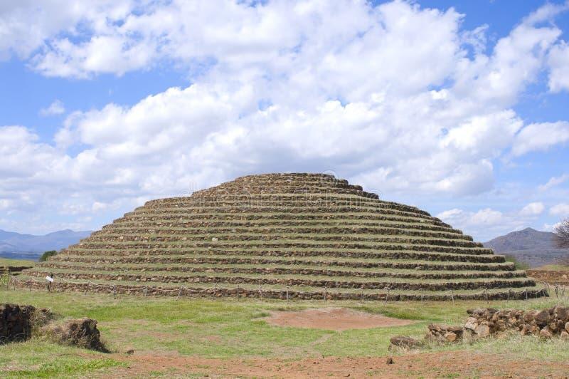 Pirámide circular de Guachimontones en Teuchitlan foto de archivo libre de regalías