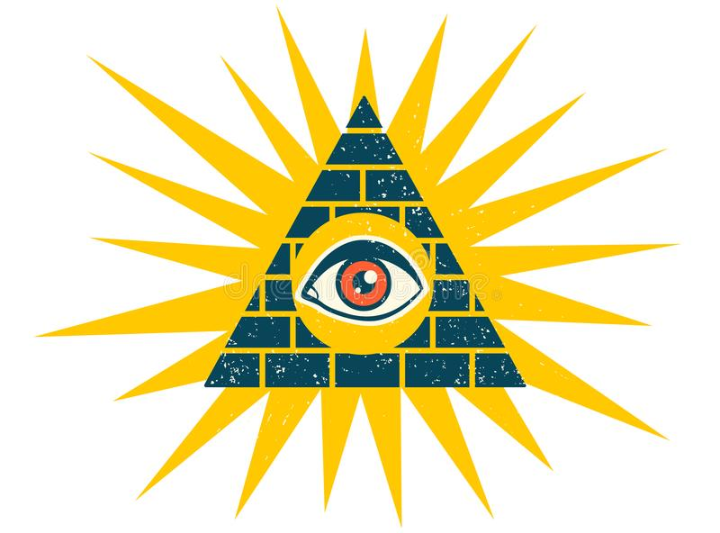 Pirámide con el ojo libre illustration