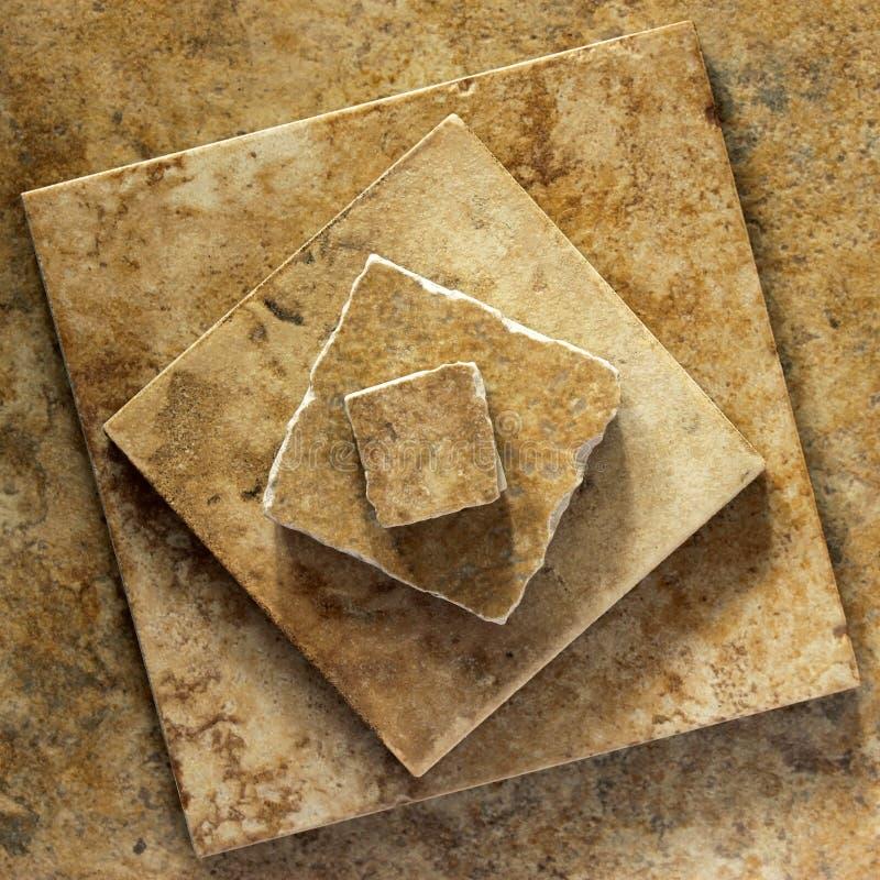 Pirámide de baldosas cerámicas foto de archivo libre de regalías
