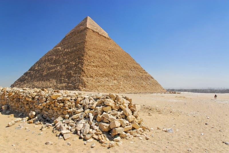 Pirámide de Cheops en Giza fotos de archivo