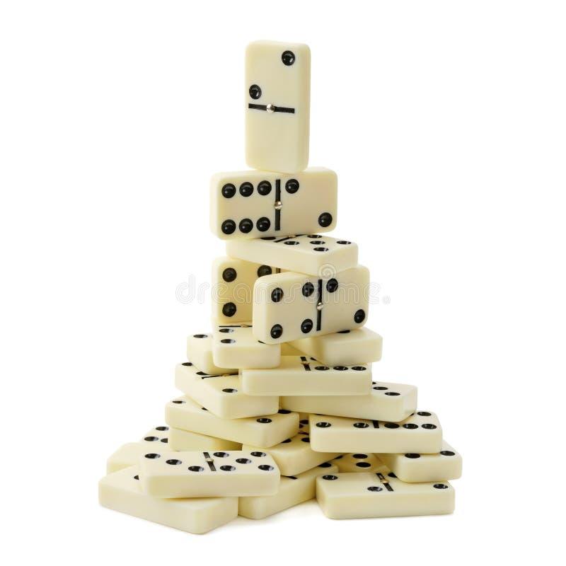 Pirámide de dominós fotografía de archivo libre de regalías
