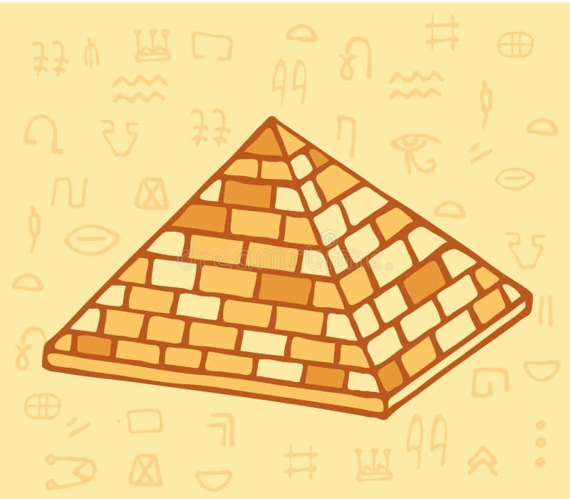 Pirámide de Egipto antiguo de bloques Historia y arqueología stock de ilustración
