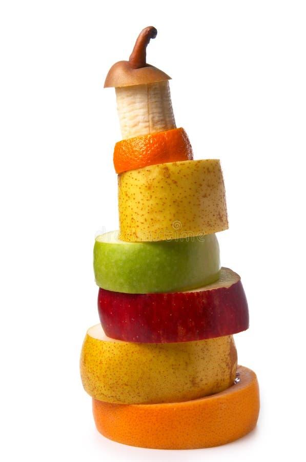 Pirámide de la fruta imágenes de archivo libres de regalías