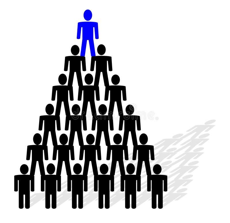 pirámide de la gente stock de ilustración