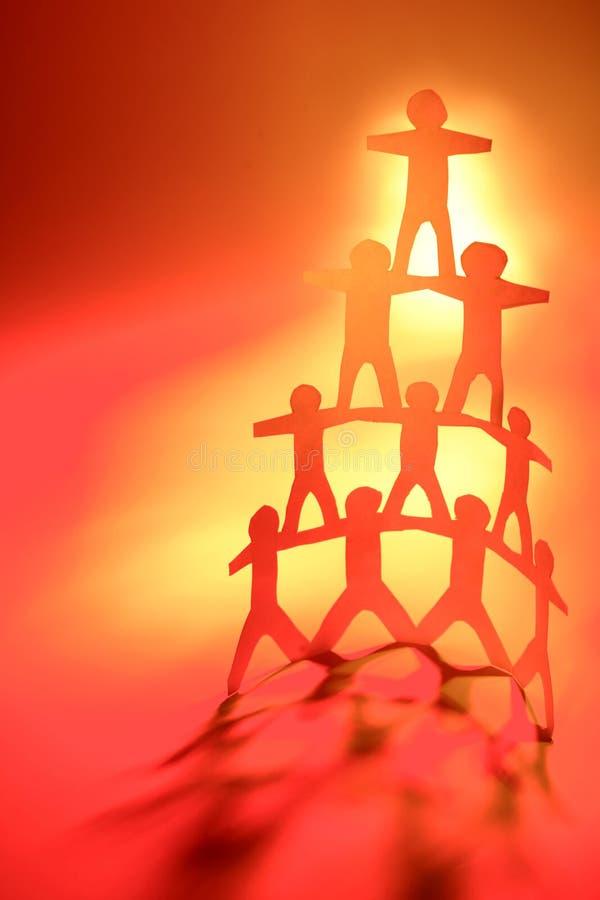 Pirámide de las personas fotos de archivo libres de regalías