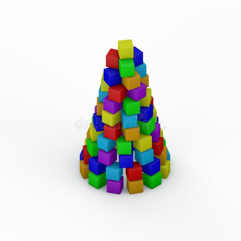 Pirámide de las unidades de creación del juguete ilustración de la representación 3d Isom libre illustration