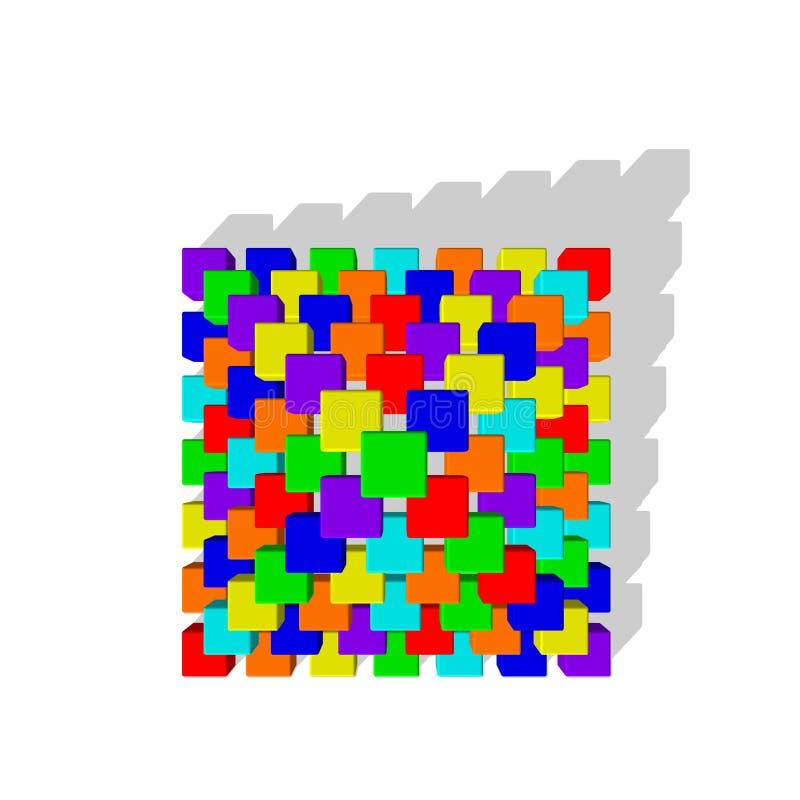 Pirámide de las unidades de creación del juguete Ejemplo colorido del vector T libre illustration