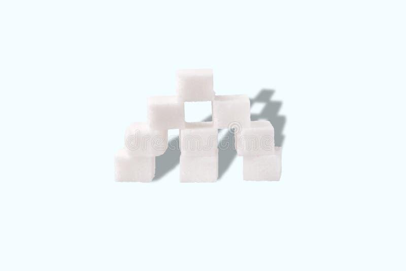 Pirámide de los cubos del azúcar foto de archivo