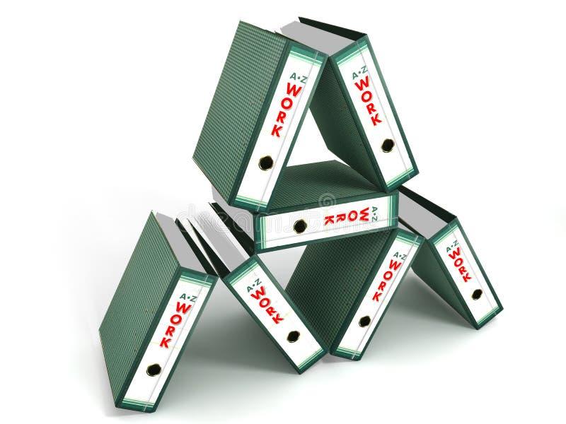Pirámide de los ficheros de trabajo stock de ilustración
