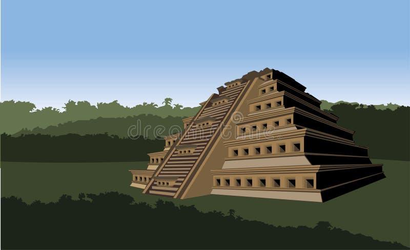Pirámide de los lugares stock de ilustración