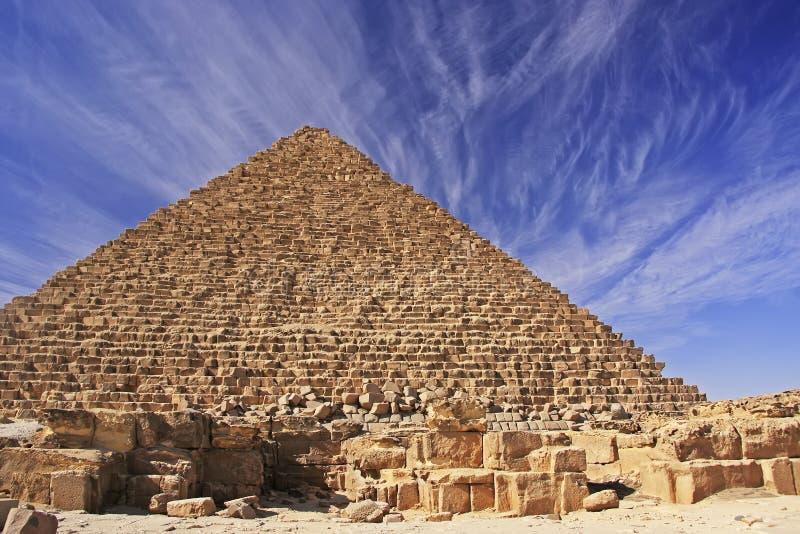 Pirámide de Menkaure, El Cairo imagen de archivo