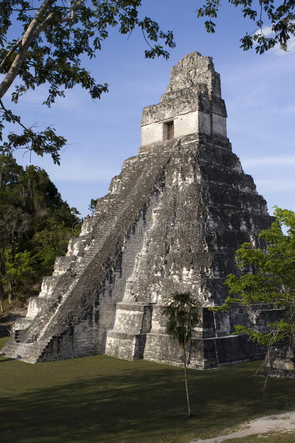 Pirámide de Tikal imagen de archivo