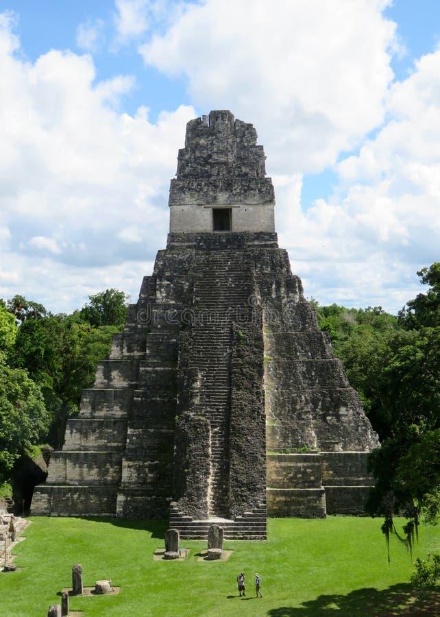 Pirámide 1 de Tikal fotografía de archivo