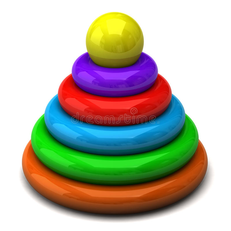 Pirámide del bebé stock de ilustración