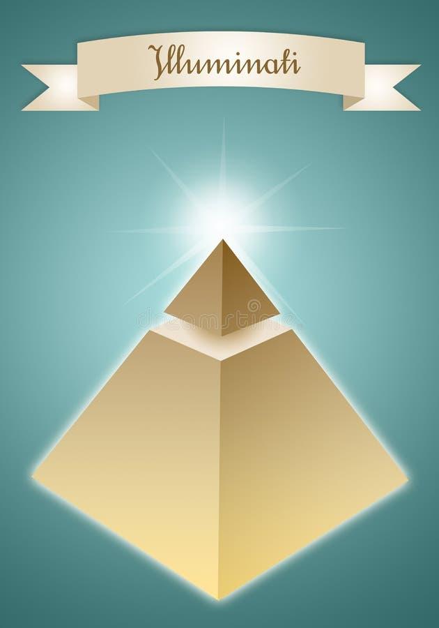 Pirámide del grupo Enlightened stock de ilustración