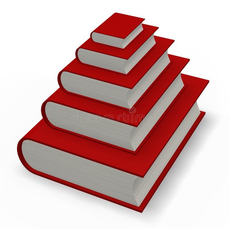 Pirámide del libro o del diccionario ilustración del vector