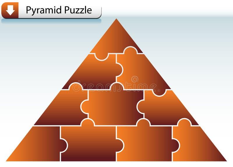 Pirámide del rompecabezas libre illustration