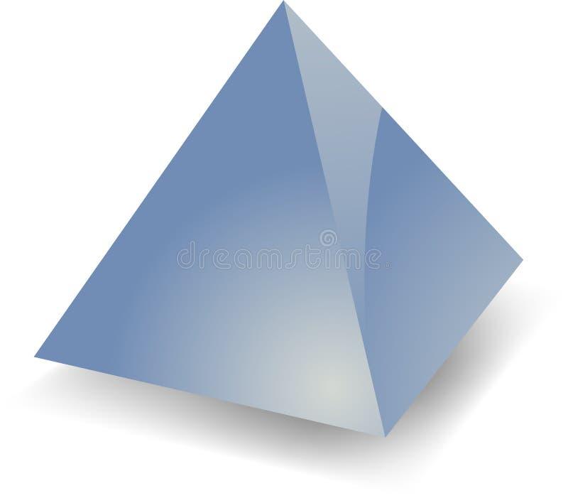 Pirámide en blanco ilustración del vector