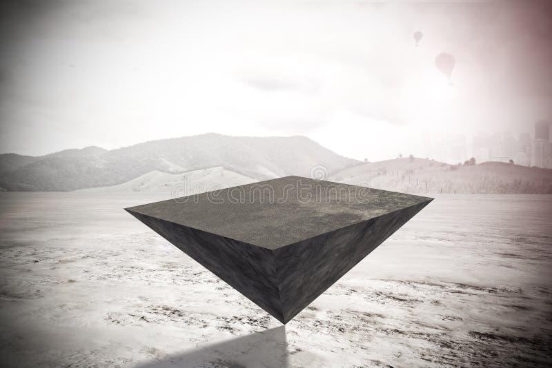 Pirámide en fondo al aire libre ilustración del vector