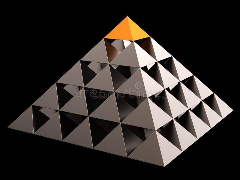 Pirámide financiera abstracta (alquileres) ilustración del vector