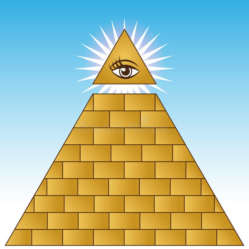 Pirámide financiera del ojo de oro libre illustration