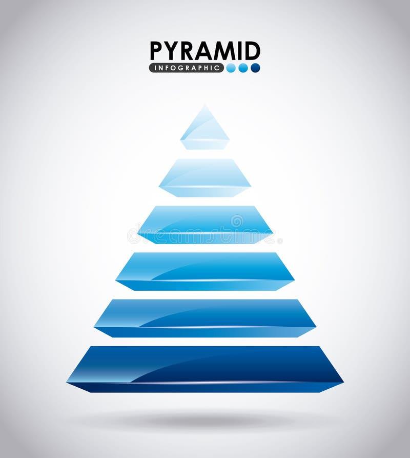 Pirámide infographic ilustración del vector