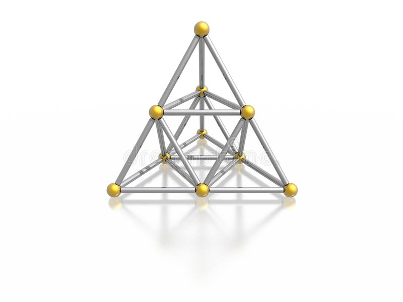 Pirámide magnética stock de ilustración