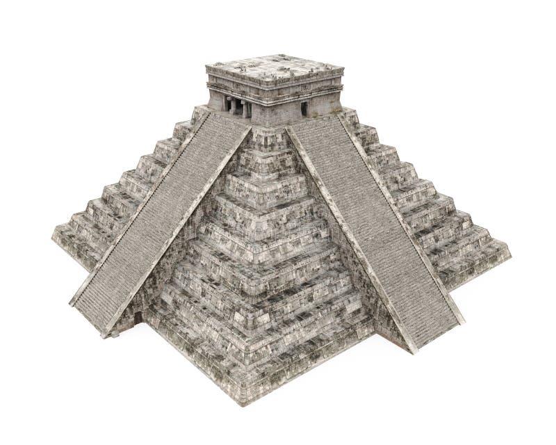 Pirámide maya aislada stock de ilustración