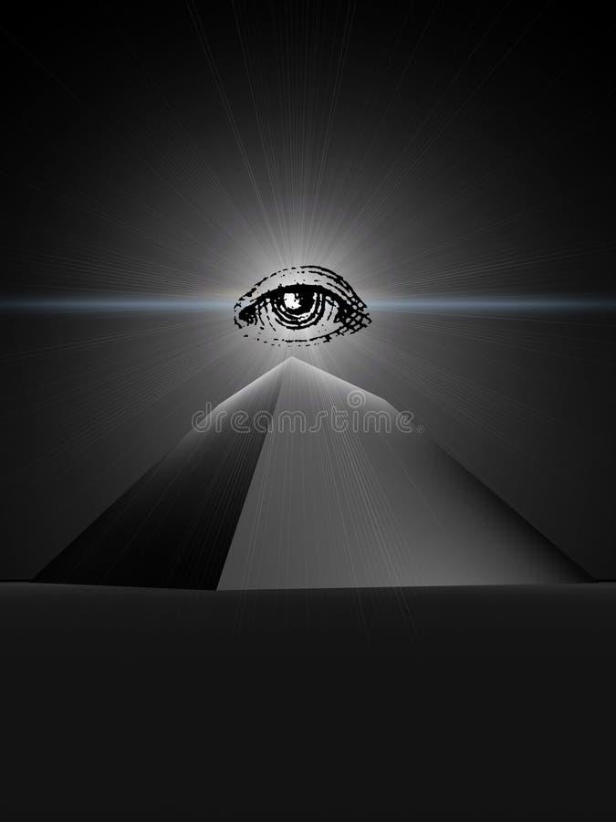 Pirámide negra del providence ilustración del vector