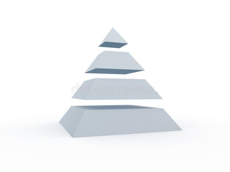 Pirámide rebanada stock de ilustración