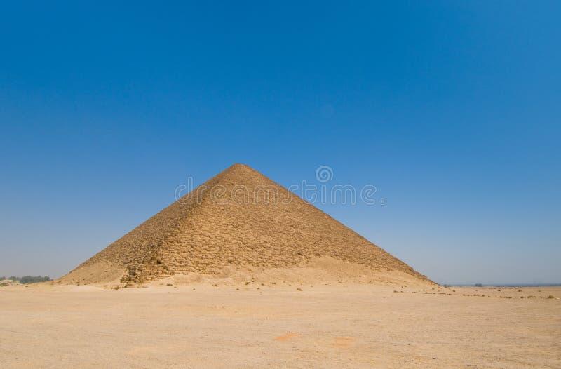Pirámide roja en Dahshur, El Cairo, Egipto fotos de archivo