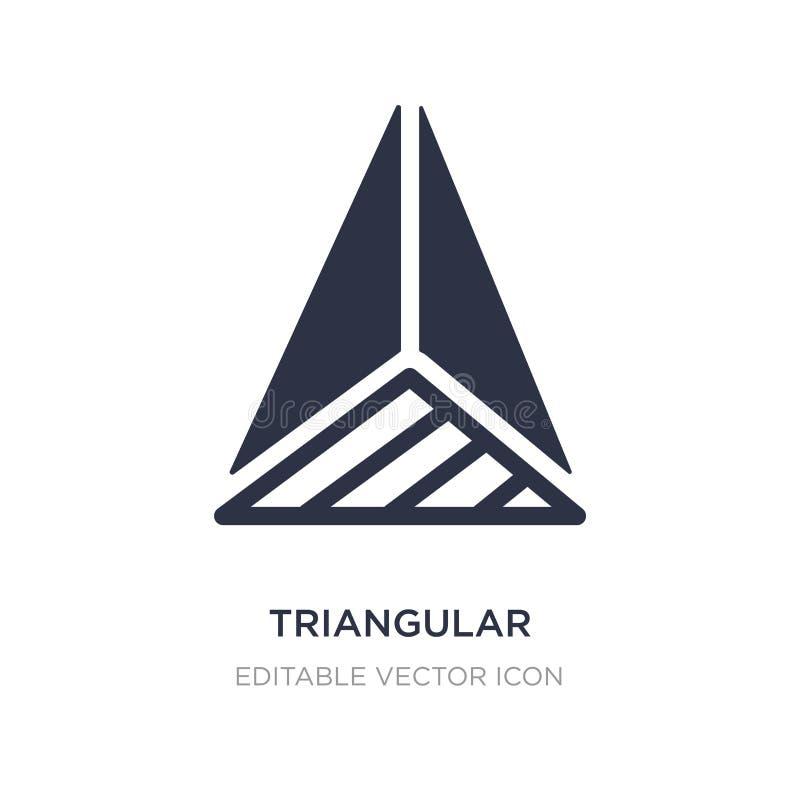 pirámide triangular del icono de la visión superior en el fondo blanco Ejemplo simple del elemento del concepto de las formas libre illustration