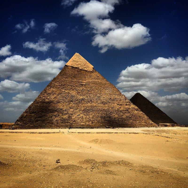 Pirámides de Egipto El Cairo imagenes de archivo