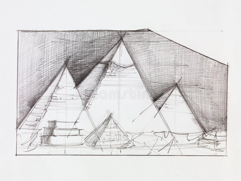 Pirámides de Giza ilustración del vector
