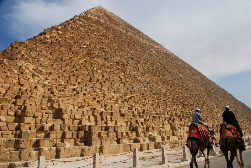 Pirámides de Khafre (Chephren) y de Cheops Giza, Egipt fotos de archivo