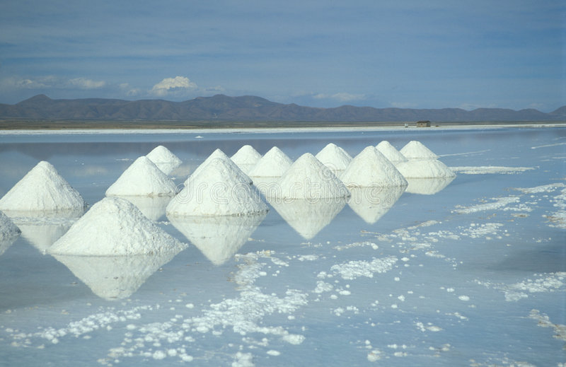Pirámides de la sal imagenes de archivo