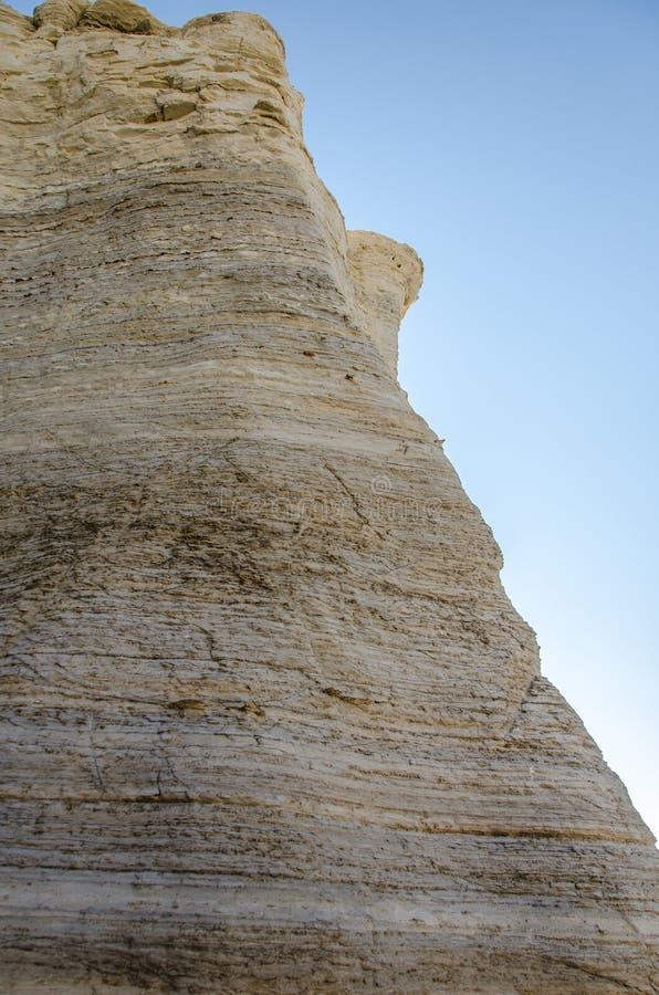 Pirámides de la tiza de la roca del monumento fotografía de archivo
