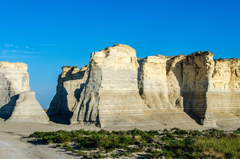 Pirámides de la tiza de la roca del monumento foto de archivo libre de regalías