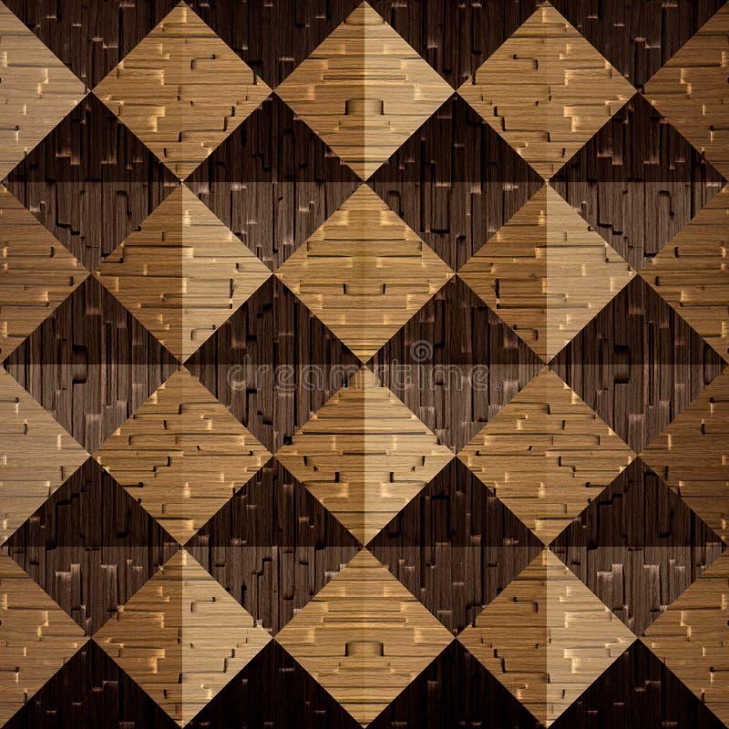 Pirámides de madera apiladas para el fondo inconsútil foto de archivo libre de regalías