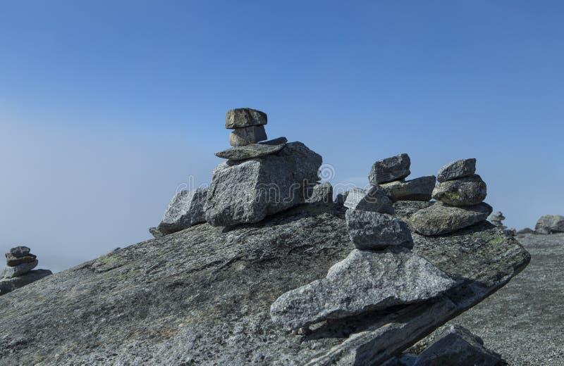 Pirámides de piedras foto de archivo libre de regalías