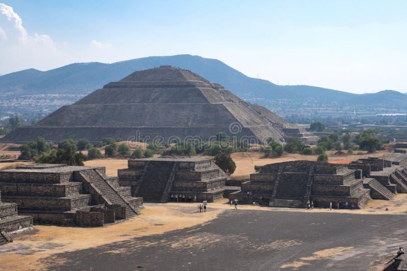 Pirámides de Teotihuacan fotografía de archivo