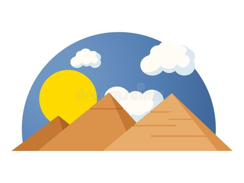 Pirámides egipcias stock de ilustración