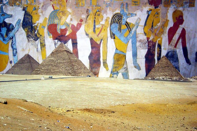 Pirámides egipcias imagen de archivo libre de regalías