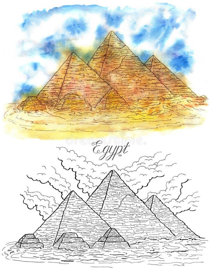 Pirámides egipcias libre illustration