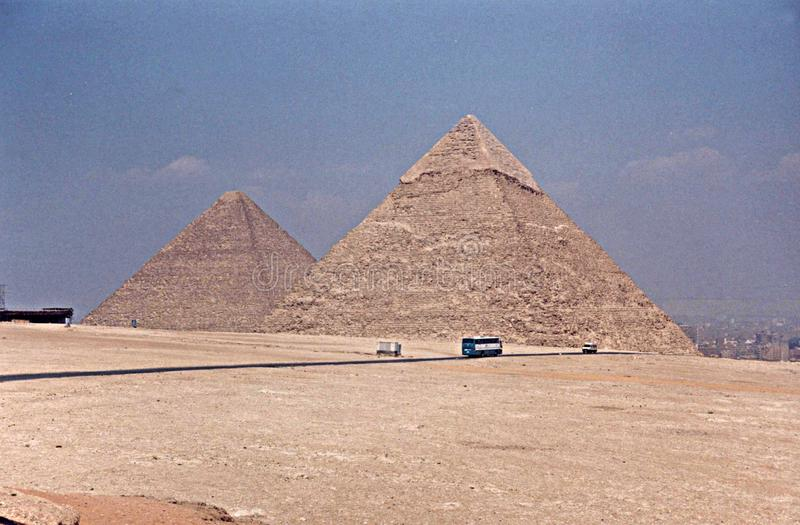 Pirámides Egipto de Giza imágenes de archivo libres de regalías