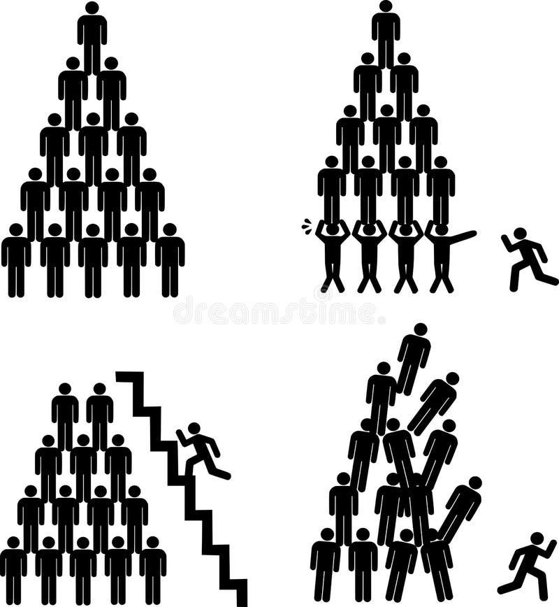 Pirámides humanas imagen de archivo