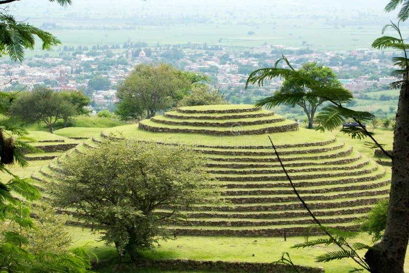 Pirámides redondas de Guachimontones imagen de archivo libre de regalías