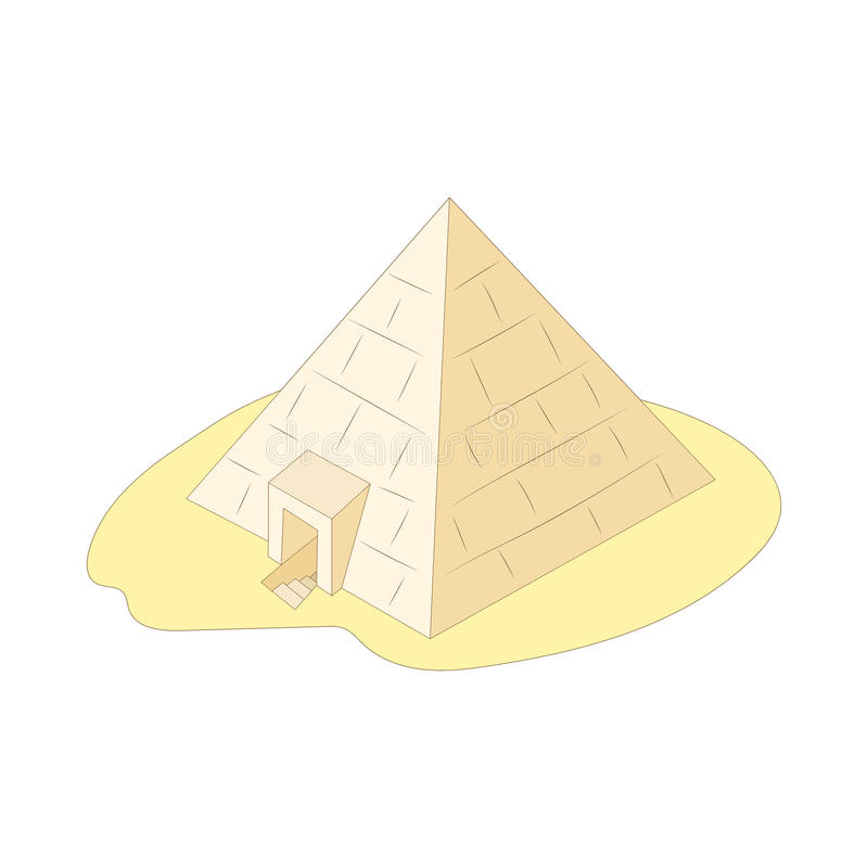 Piramide Icone De Giza Egito Estilo Dos Desenhos Animados